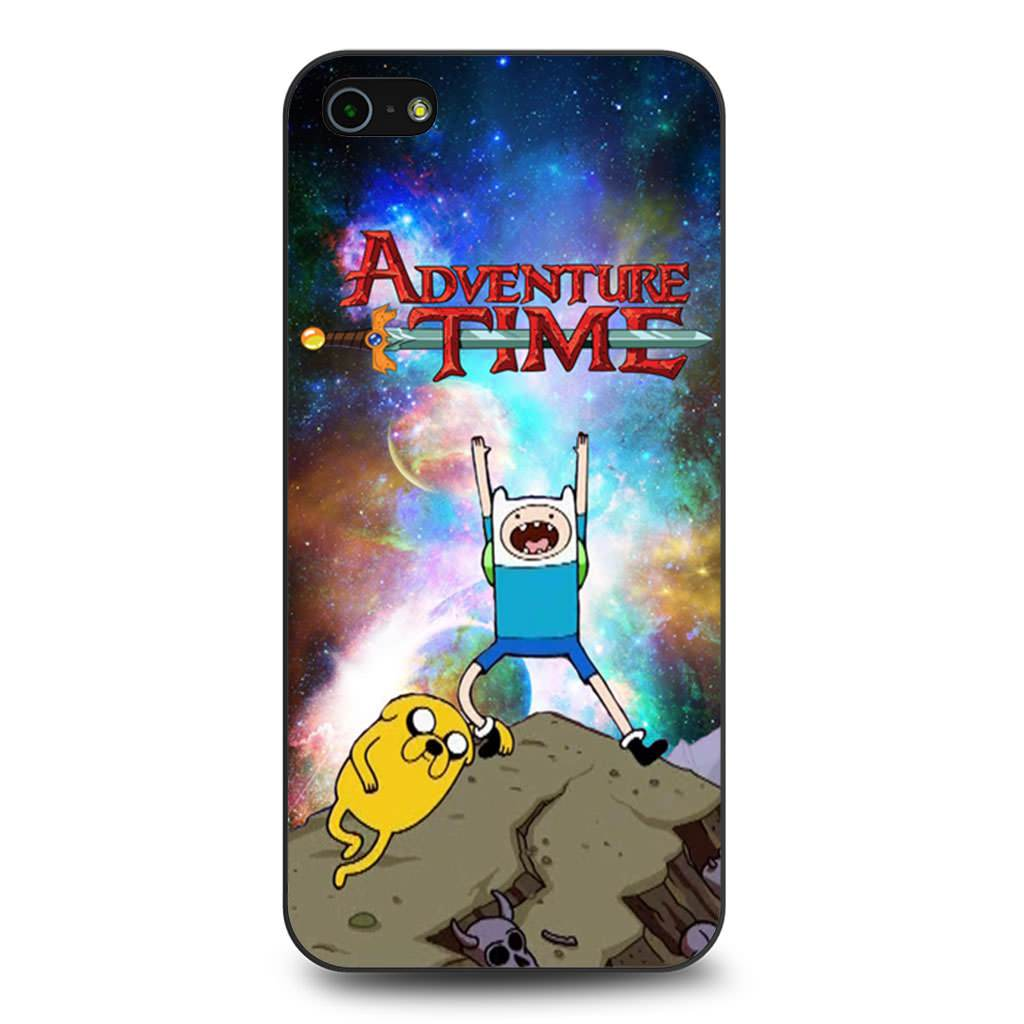 Adventure Time Finn and Jake Galaxy Nebula coque iPhone 5/5s/SE
