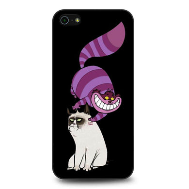 Cheshire Cat and Grumpy Cat coque iPhone 5/5s/SE