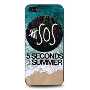 5 Seconds of Summer Band The Beach coque iPhone 5/5s/SE