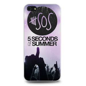 5SOS 5 Seconds Of Summer Logo Galaxy Nebula coque iPhone 5/5s/SE