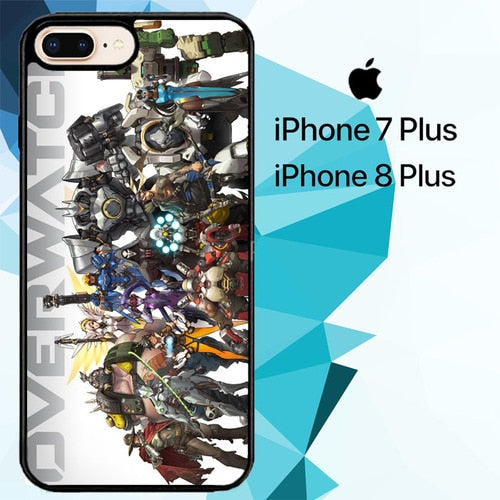 overwatch characters Z4706 coque iPhone 7 Plus , iPhone 8 Plus