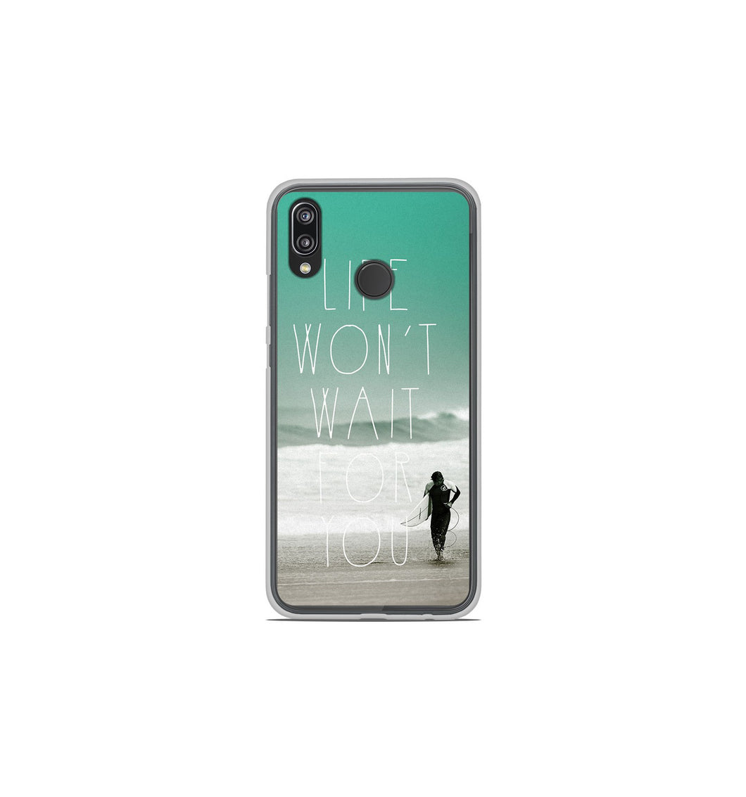 coque huawei p20 silicone foot