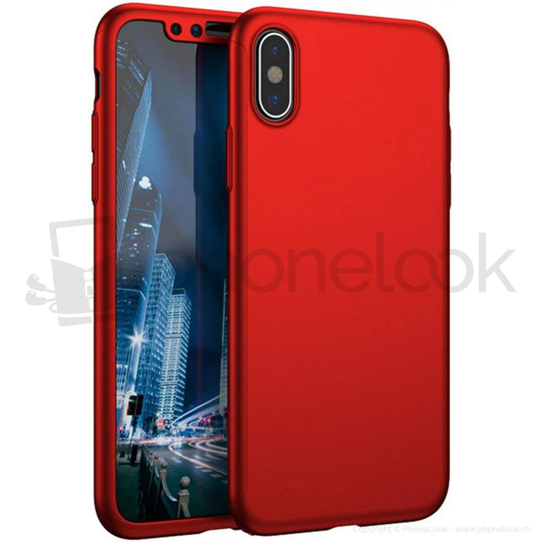 coque iphone xr 360 rouge
