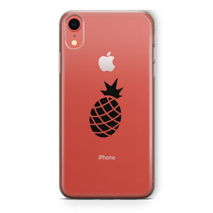 coque iphone xr ananas noir