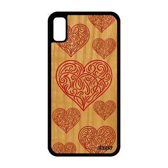 coque iphone xr coeur rouge