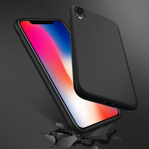 coque iphone xr fibre de carbone