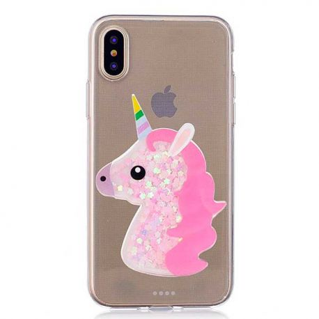 coque iphone xr licorne silicone
