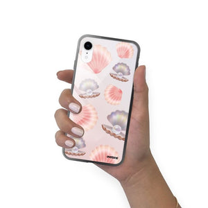 coque iphone xr motif coquillage