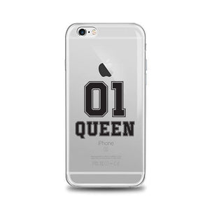 coque iphone xr queen transparente