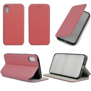 coque iphone xr rouge cuir