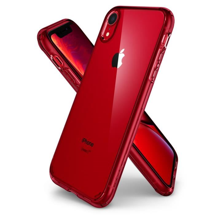 coque iphone xr rouge fine