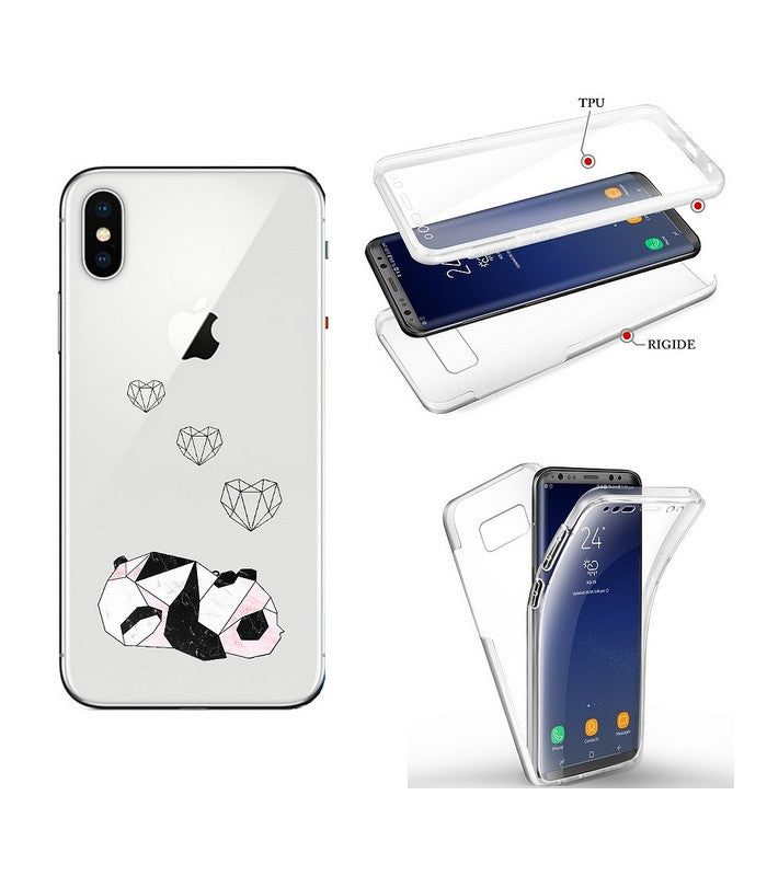 coque iphone xr transparente motif rigide