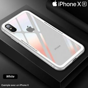 coque iphone xr verre blanc