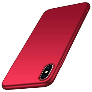 coque iphone xs max apple rouge