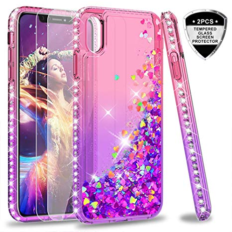 coque iphone xs max paillette liquide