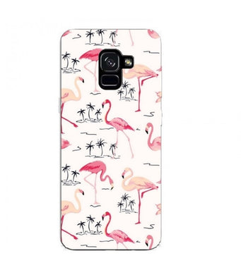 coque samsung a6 flamant rose