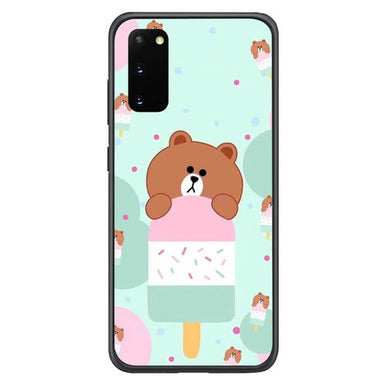 Brown Eat Ice Cream L0325 coque Samsung Galaxy S20, S20 5G