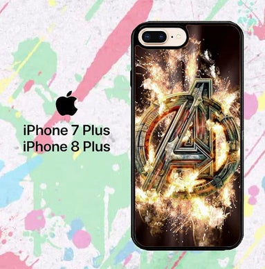 Avengers Endgame Logo L2906  iPhone 7 Plus , iPhone 8 Plus