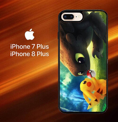 toothless and pikachu Y1835 coque iPhone 7 Plus , iPhone 8 Plus