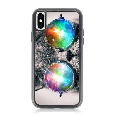 space cat glasses Z1622 iPhone XS Max coque