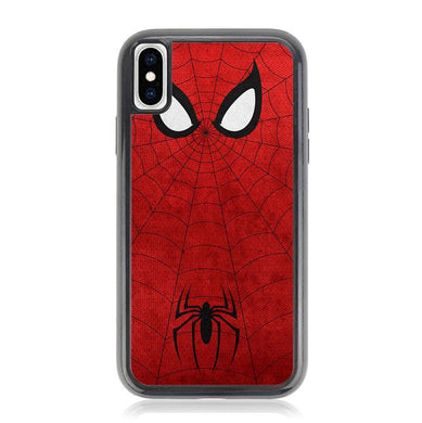 spiderman face and logo Z1661 iPhone XS Max coque