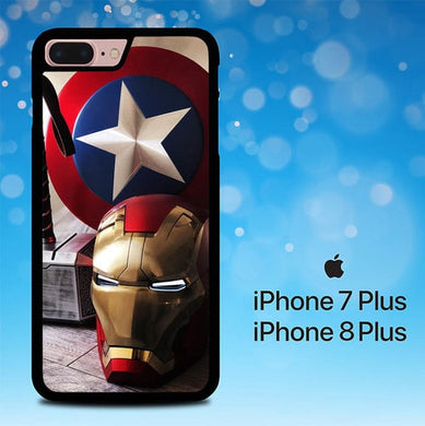 Captain America with thors hammer P1526 coque iPhone 7 Plus , iPhone 8 Plus