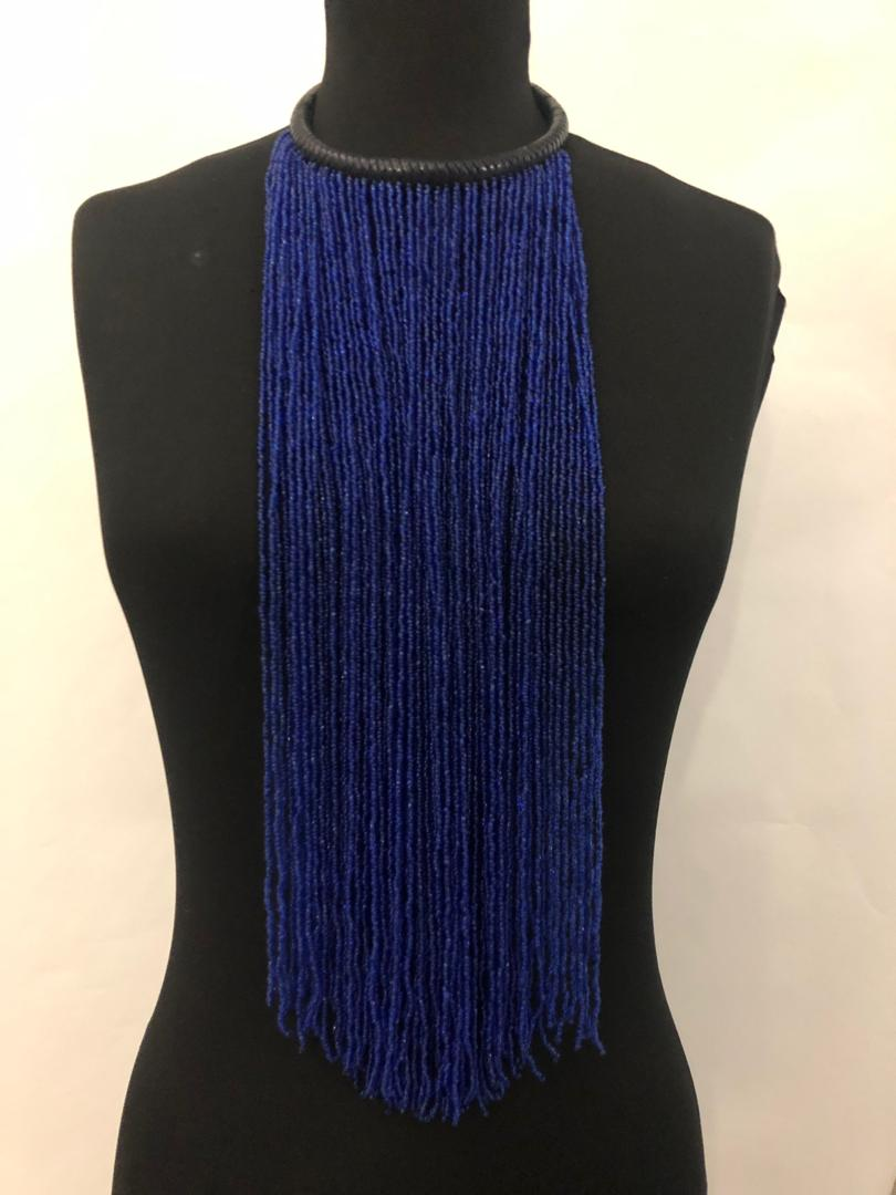 Leather Neck And Bead Necklace