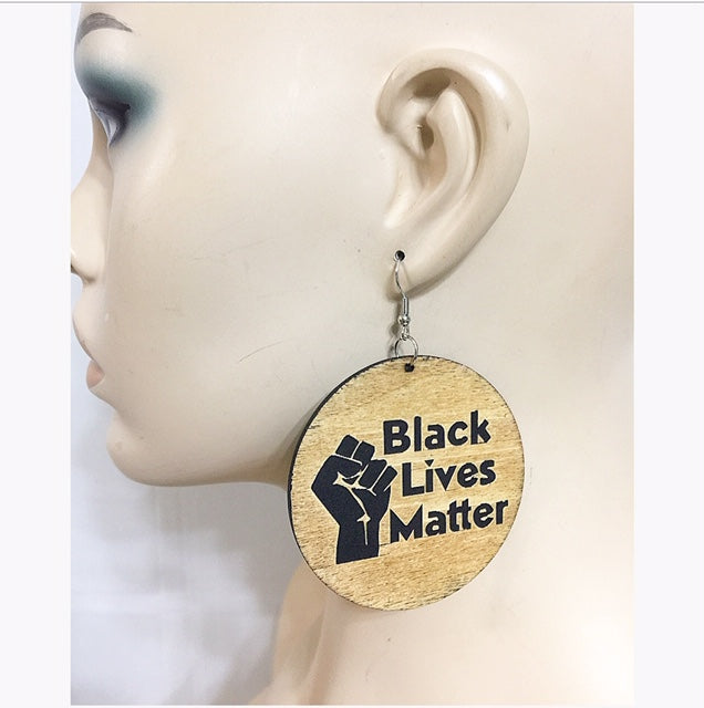 Black Lives Matter Brown Earring