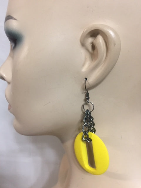 Yellow Square Fashion Earrings