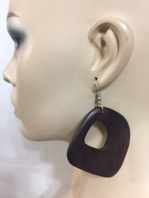 Smooth Circle Wood Earring