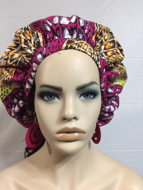 Rosa African Bonnet and Face Mask