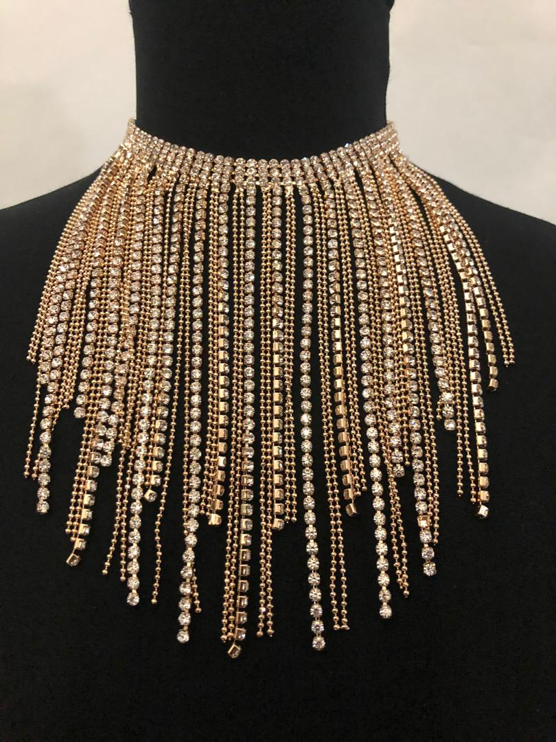 Drip Crystals Fashion Necklace