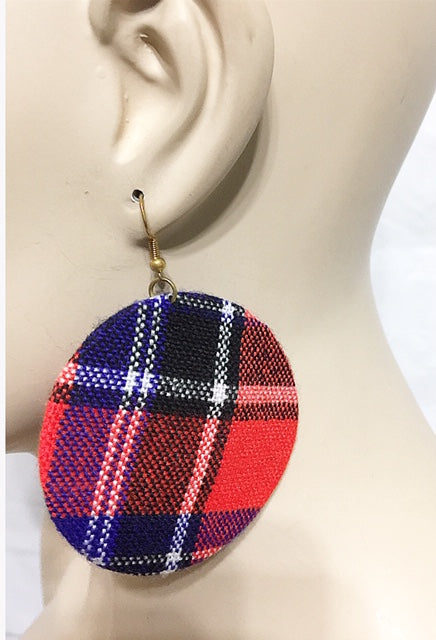 Button Flat Earrings