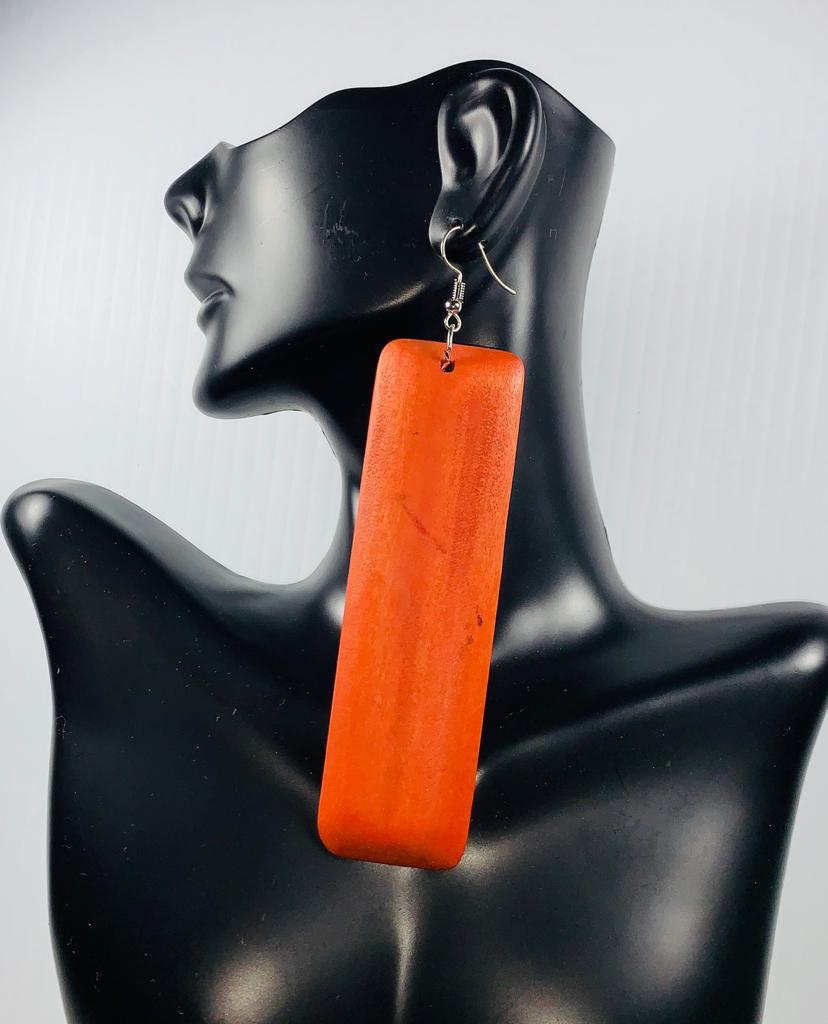 Rectangular Wooden Earrings