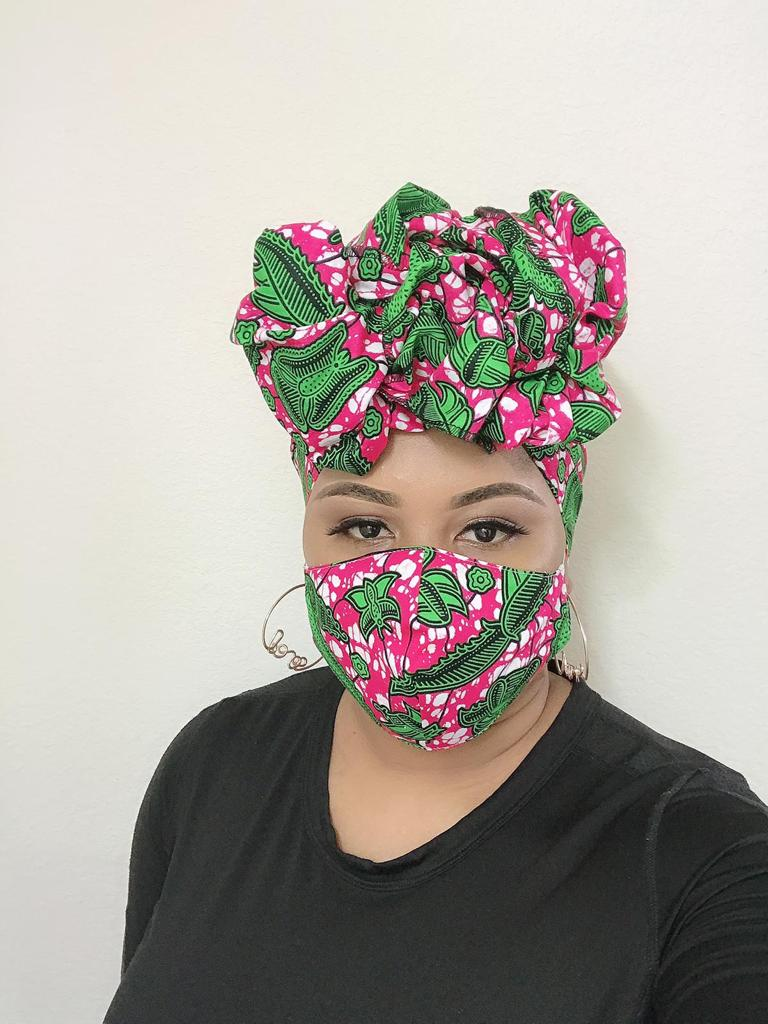 Annika Head Wrap With Face Masks