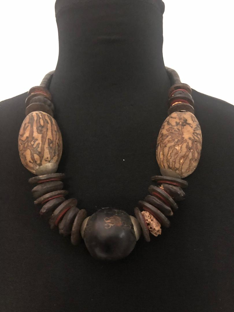 Tribal Wood Balls Necklace