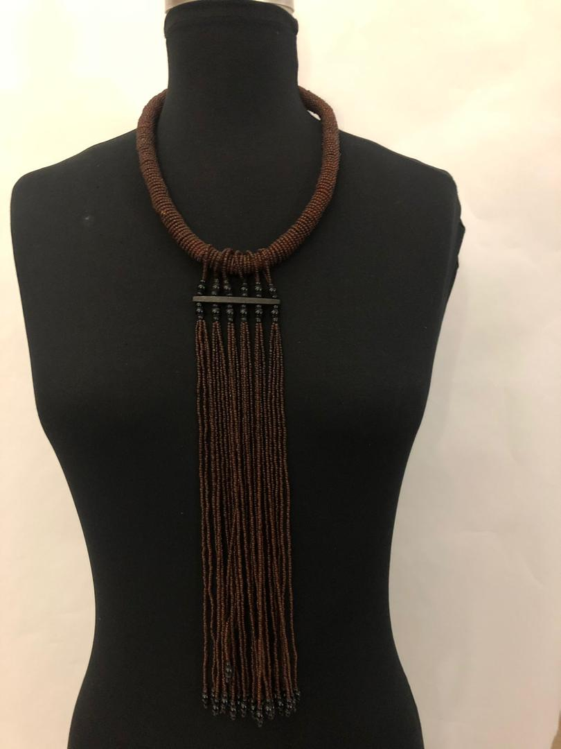 Bead Collar Drip Necklace