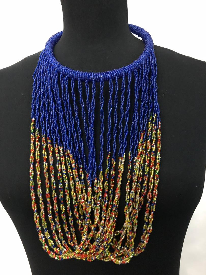 Fine Bead Fold Necklace