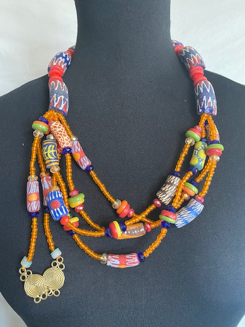 Native Stone Bead Necklace