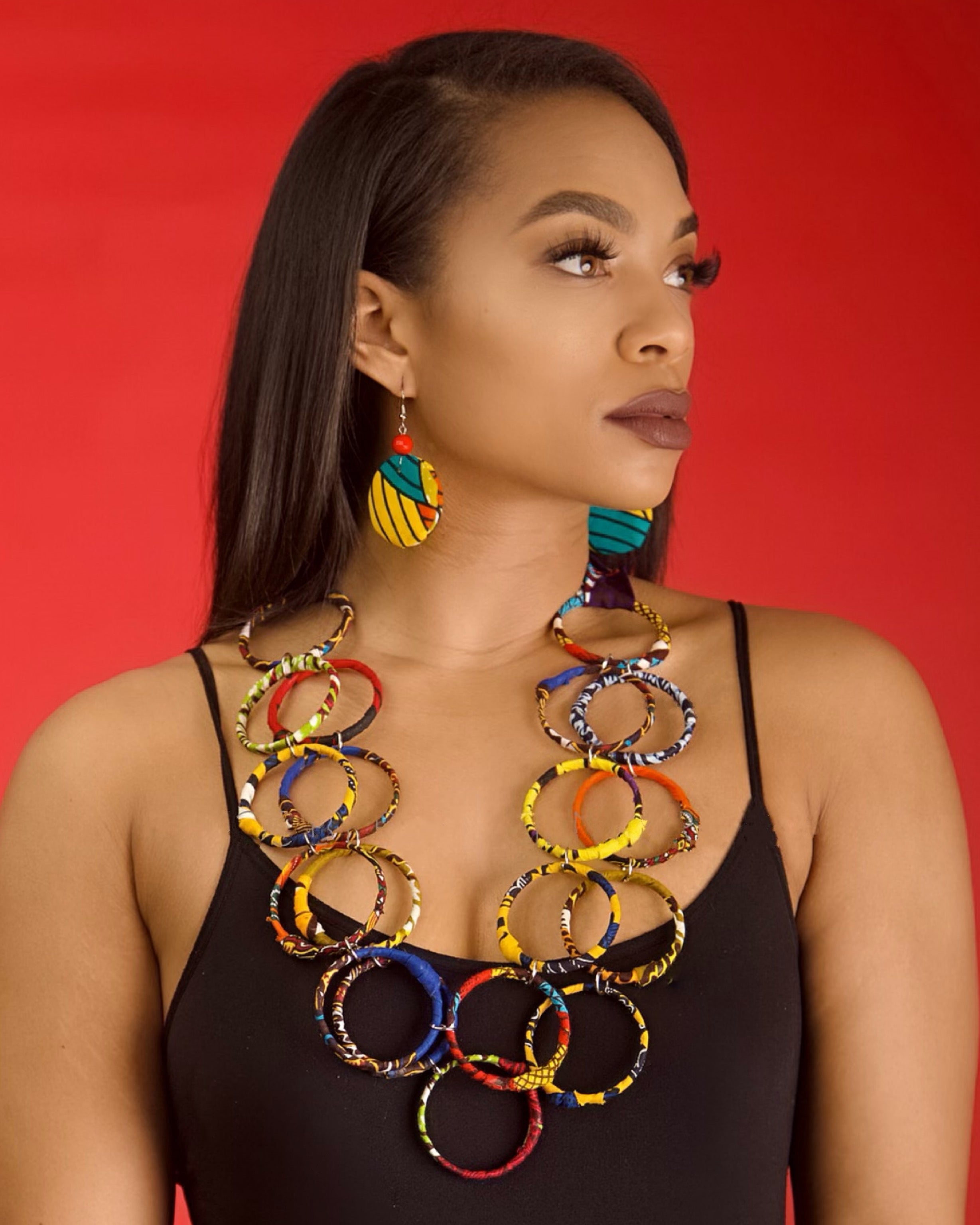 Soala Ring Necklace And Earring