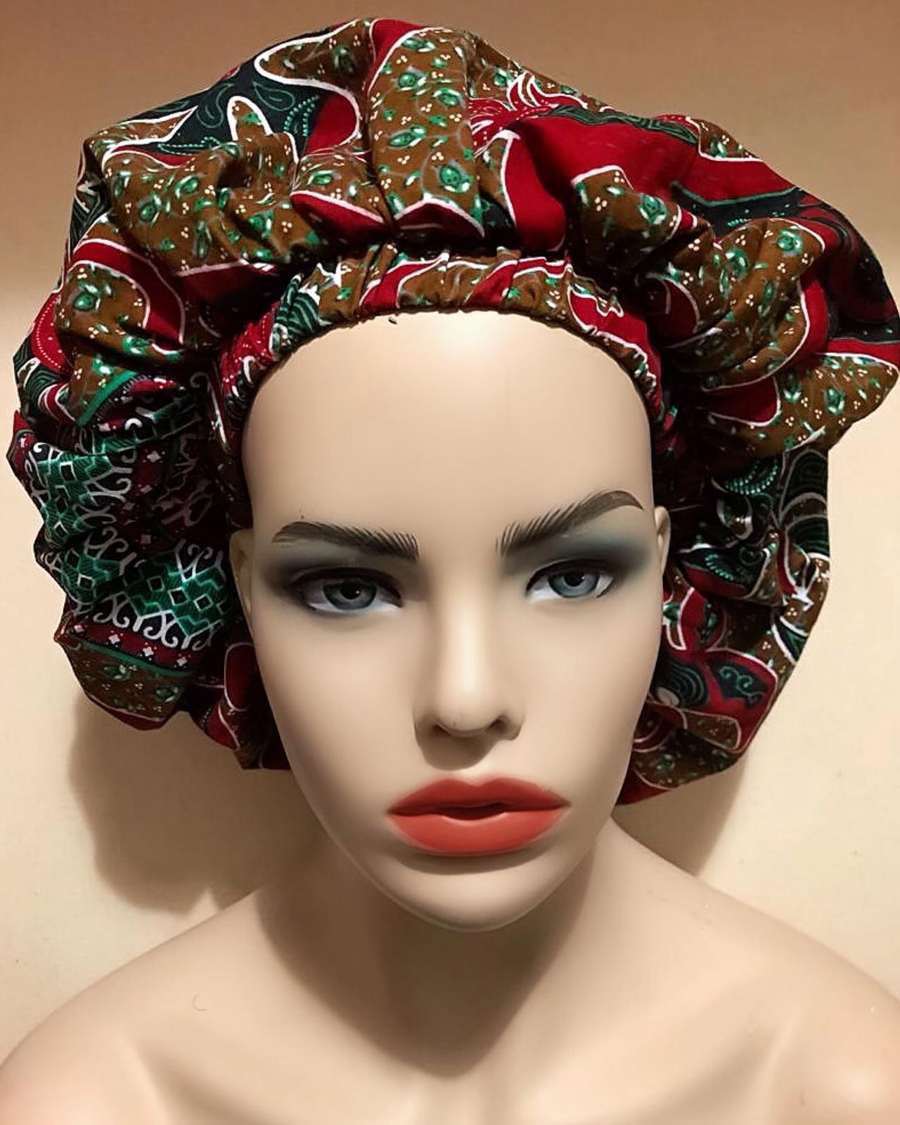Chisom African Fabric Bonnet