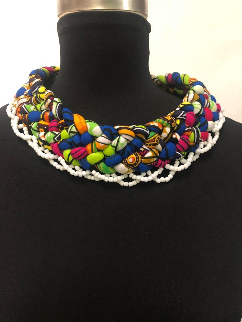 Women's Sauda Weaved Fabric Necklace