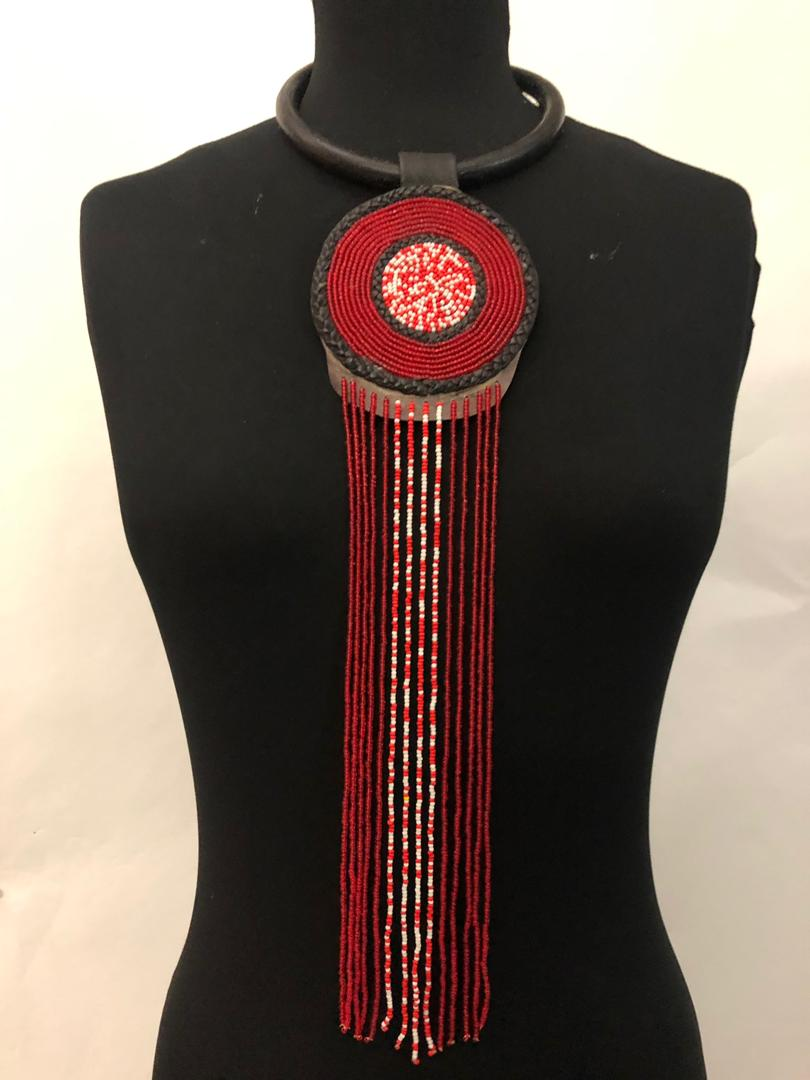 Leather One-Step Bead Necklace