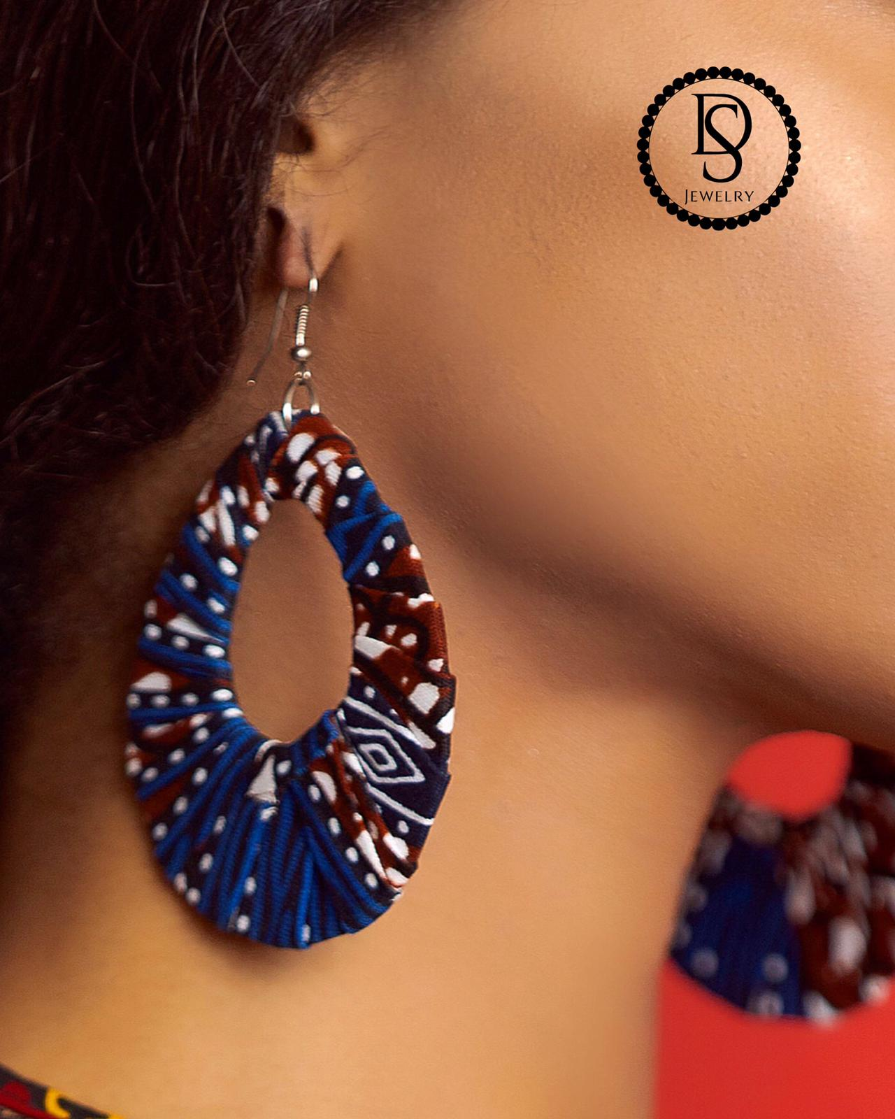 Fabric Koso Earrings