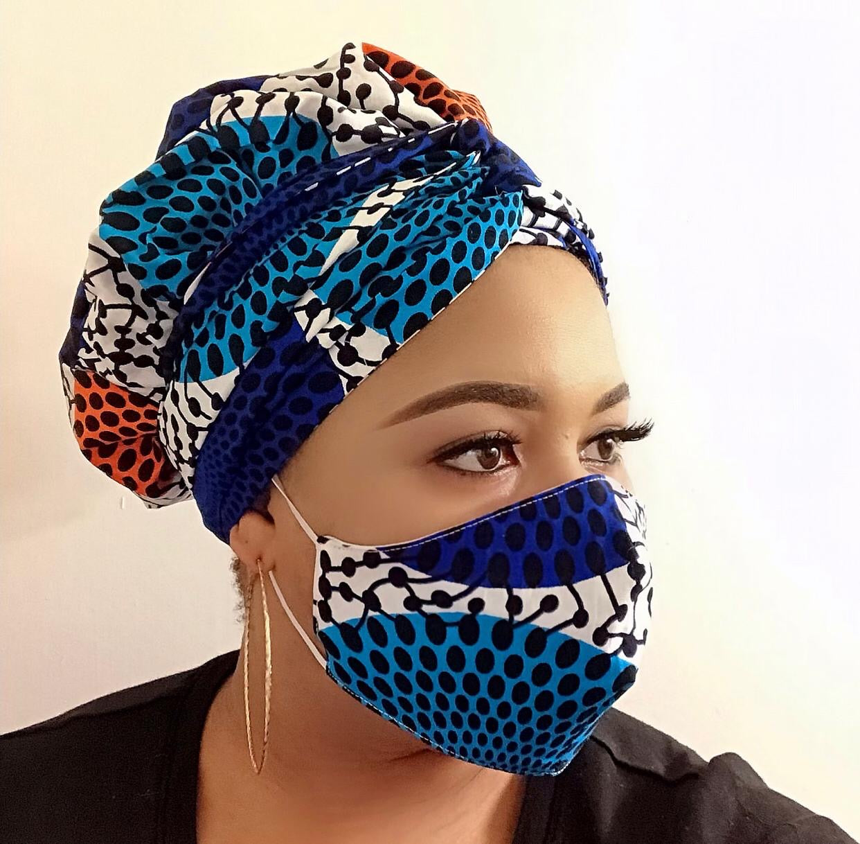 Halima Turban Wrap and Face Mask With Filter