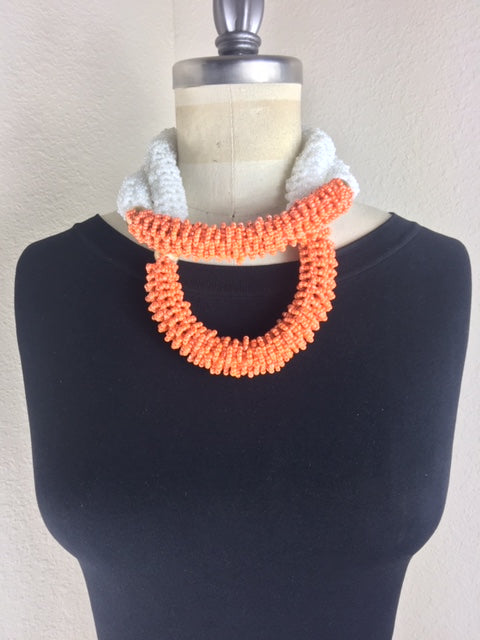 Wedding Coral Necklace, Bracelet and Earring Set