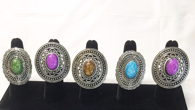 Circle Silver Free Size Rings