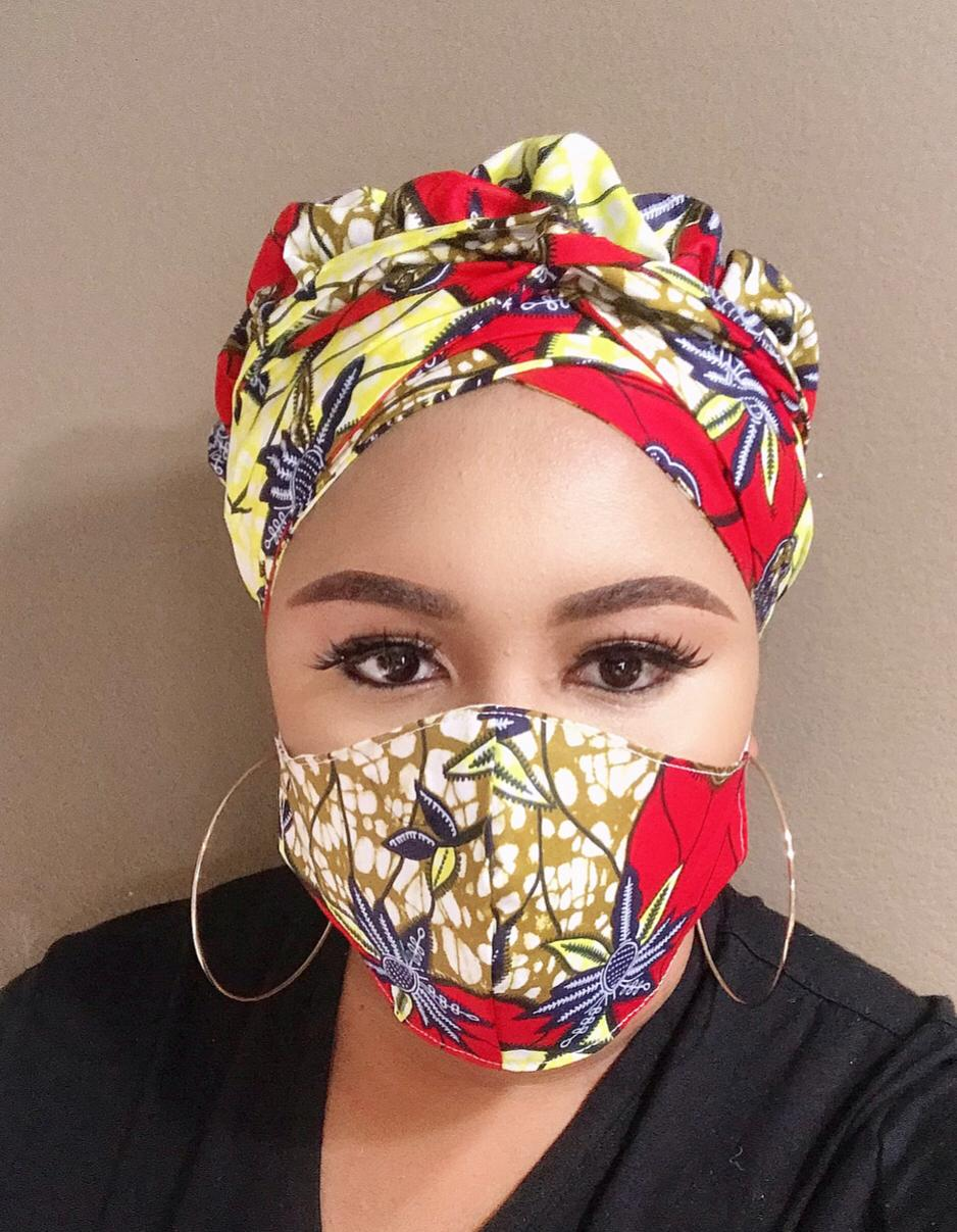 Kosi Turban and Face Mask With Filter