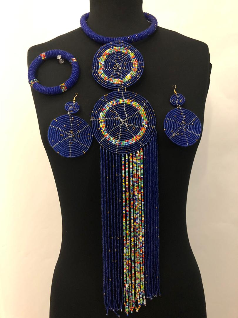 Drip Two-Step Bead Necklace