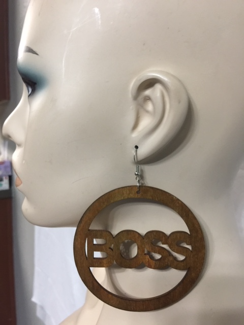Boss Wood Earring